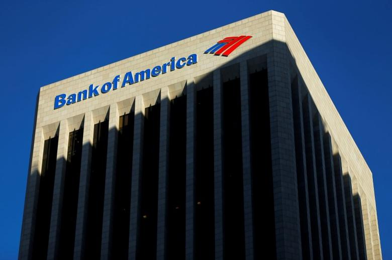 The Bank of America building is shown in Los Angeles, California October 29, 2014.    REUTERS/Mike Blake/File Photo - RTSIJL2