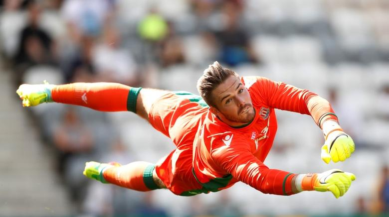 Britain Football Soccer - Preston North End v Stoke City - Pre Season Friendly - Deepdale - 23/7/16Stoke City's Jack Butland in action Action Images via Reuters / Carl RecineLivepic
