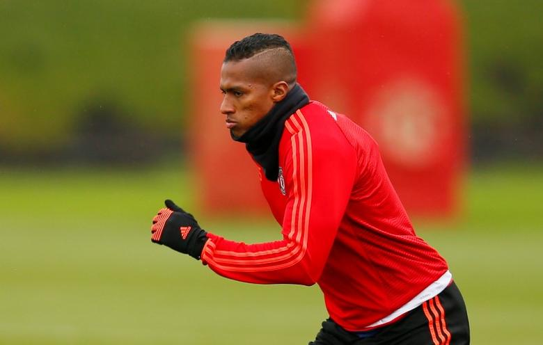 Football Soccer - Manchester United Training - Manchester United Training Ground - 9/3/16Manchester United's Antonio Valencia during trainingAction Images via Reuters / Jason CairnduffLivepic