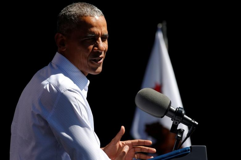 U.S. President Barack Obama delivers remarks on the environment and climate change at the 20th Annual Lake Tahoe Summit at Harvey's in Stateline, Nevada, U.S. August 31, 2016. REUTERS/Jonathan Ernst