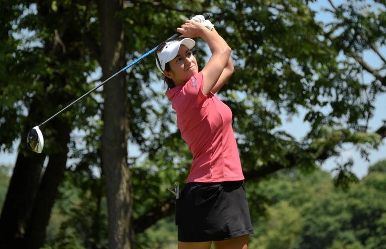 Jul 11, 2015; Lancaster, PA, USA; File photograph of Marina Alex during the third round of the 2015 U.S. Women's Open at Lancaster Country Club. Kyle Terada-USA TODAY Sports