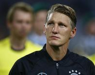 Football Soccer - Germany v Finland - Soccer Friendly - Moenchengladbach, Germany - 31/08/16. Germany's Bastian Schweinsteiger before the match.     REUTERS/Thilo Schmuelgen