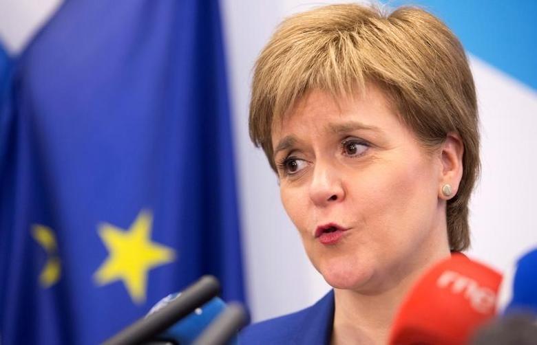 Scotland's First Minister Nicola Sturgeon addresses a news conference in Brussels, Belgium, June 29, 2016. REUTERS/Geoffroy Van Der Hasselt/Pool