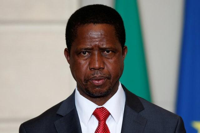Zambia's President Edgar Lungu attends a signing ceremony at the Elysee Palace in Paris, France, February 8, 2016. REUTERS/Philippe Wojazer/File Photo