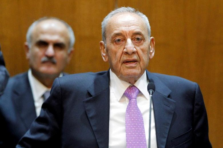 Lebanese Parliament Speaker Nabih Berri heads a session of the national dialogue, at the parliament building in downtown Beirut, Lebanon September 9, 2015. REUTERS/Mohamed Azakir/File Photo