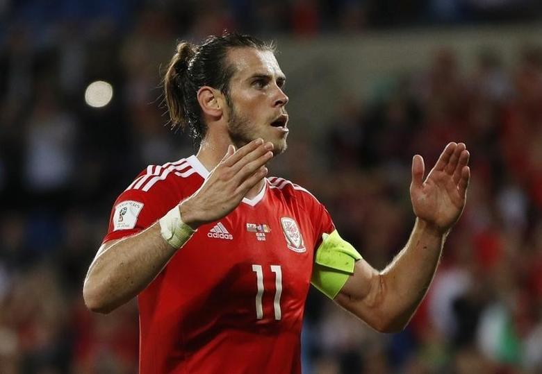 Britain Football Soccer - Wales v Moldova - 2018 World Cup Qualifying European Zone - Group D - Cardiff City Stadium, Cardiff, Wales - 5/9/16Wales' Gareth Bale celebrates scoring their fourth goal from the penalty spotAction Images via Reuters / John SibleyLivepic