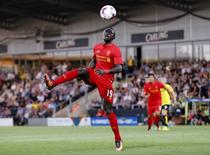 Liverpool's Sadio Mane in action. Burton Albion v Liverpool - EFL Cup Second Round - Pirelli Stadium - 23/8/16. Reuters / Darren Staples