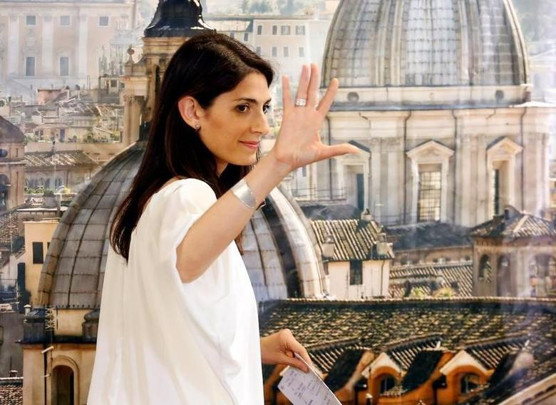 Rome's newly elected mayor Virginia Raggi, of 5-Star Movement, gestures during a news conference in Rome, Italy June 20, 2016. REUTERS/Remo Casilli