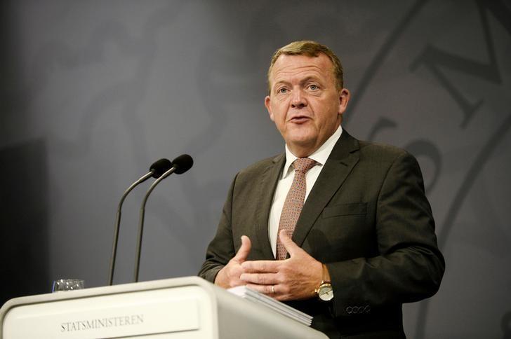 Danish Prime Minister Lars Lokke Rasmussen speaks during a press meeting in Copenhagen, Denmark August 30, 2016. Scanpix Denmark/Olafur Steinar Gestsson via REUTERS/File Photo