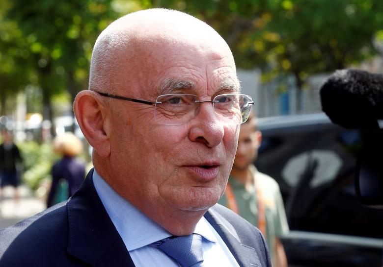 UEFA executive committee member Michael van Praag leaves the UEFA executive committee meeting in Basel, Switzerland May 18, 2016. REUTERS/Ruben Sprich