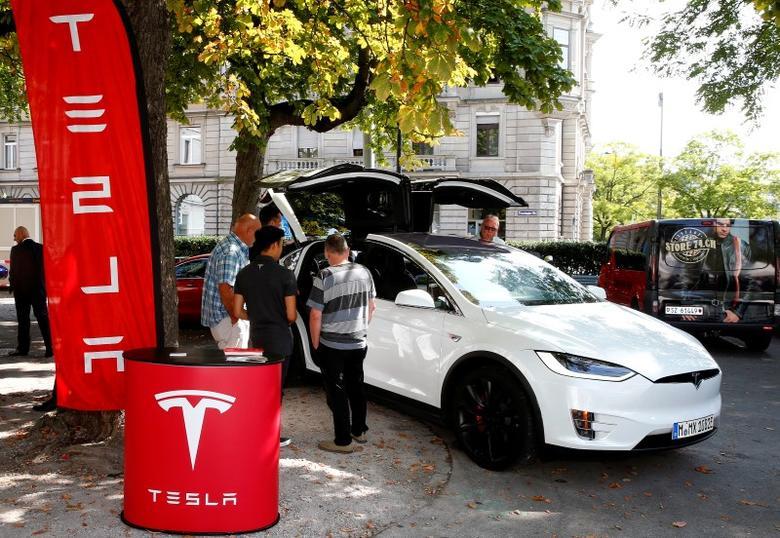 A Model X car of U.S. manufacturer Tesla is shown in Zurich, Switzerland August 17, 2016    REUTERS/Arnd Wiegmann