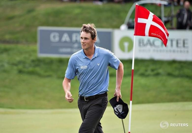 Thomas Pieters of Belgium reacts during the Made in Denmark, European Tour golf tournament, final round in Farso, August 28, 2016.   REUTERS/Henning Bagger/Scanpix Denmark
