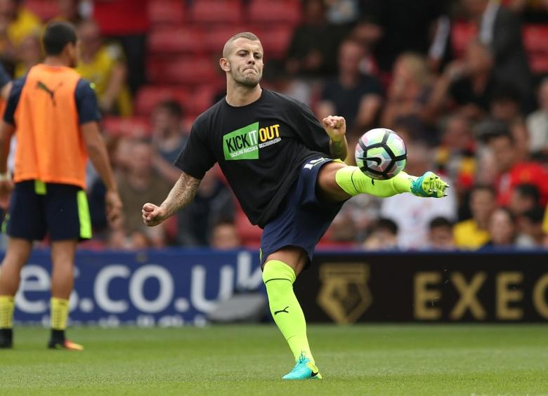 Football Soccer Britain - Watford v Arsenal - Premier League - Vicarage Road - 27/8/16Jack Wilshere warms up before the gameAction Images via Reuters / Andrew BoyersLivepic