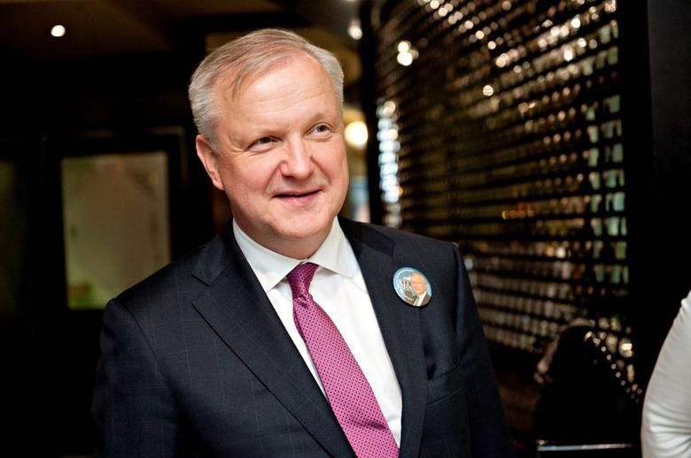 Finland's Minister of Economic Affairs Olli Rehn is pictured in Helsinki April 11, 2014.  REUTERS/Mikko Stig/Lehtikuva