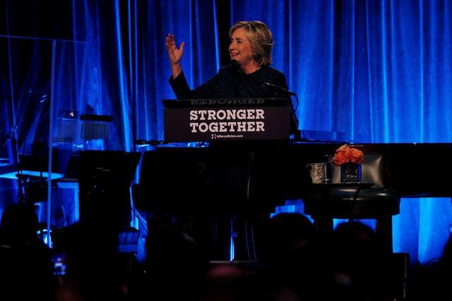 U.S. Democratic presidential candidate Hillary Clinton speaks at a LBGT for Hillary Gala at Cipriani in New York, New York, United States September 9, 2016.  REUTERS/Brian Snyder