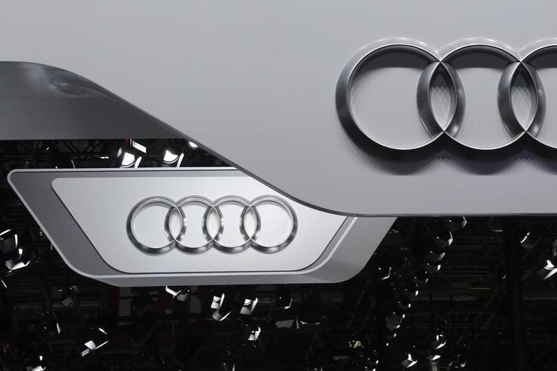 The logo of Audi is pictured at the Auto China 2016 auto show in Beijing, April 25, 2016. REUTERS/Kim Kyung-Hoon