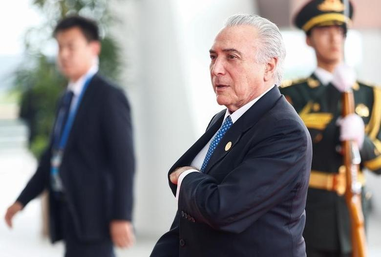 Brazilian President Michel Temer arrives arrives to attend the G20 Summit in Hangzhou, Zhejiang province, China, September 4, 2016. REUTERS/Rolex dela Pena/Pool