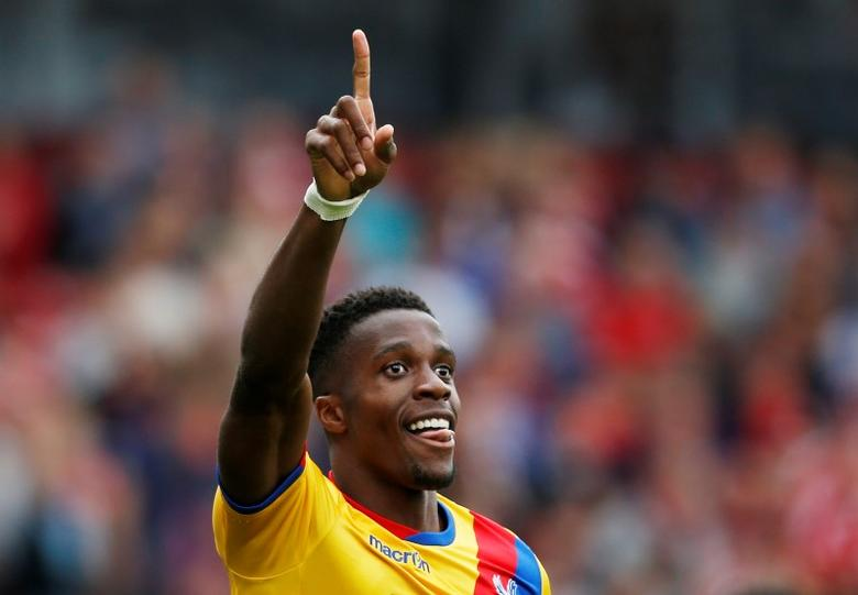 Britain Soccer Football - Middlesbrough v Crystal Palace - Premier League - The Riverside Stadium - 10/9/16Crystal Palace's Wilfried Zaha celebrates scoring their second goal Action Images via Reuters / Ed SykesLivepic