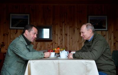 Putin and Medvedev's fishing weekend