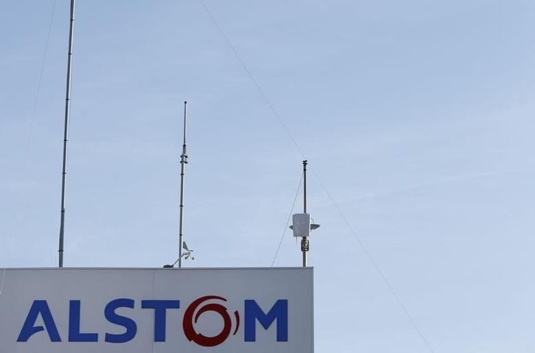The logo of French engineering group Alstom is seen at the plant in Aytre near La Rochelle, France, August 31, 2016.  REUTERS/Regis Duvignau