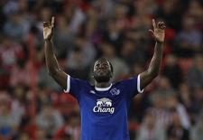 Lukaku comemora gol do Everton sobre o Sunderland .  12/9/16.  Action Images via Reuters / Lee Smith