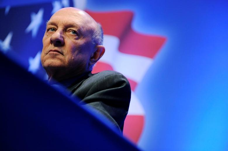 Former director of the U.S. Central Intelligence Agency James Woolsey takes part in a panel discussion on Sharia law at the Conservative Political Action Conference (CPAC) in Washington in this February 12, 2011 file photo.  REUTERS/Jonathan Ernst