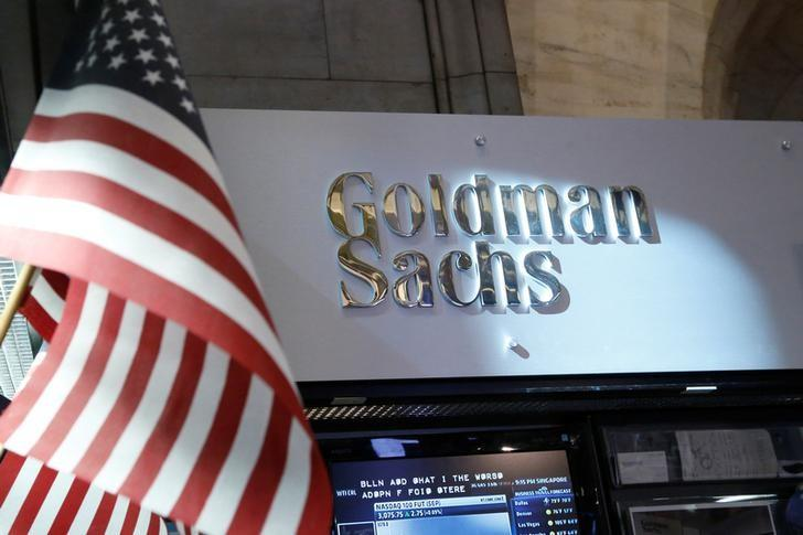 FILE PHOTO --  A view of the Goldman Sachs stall on the floor of the New York Stock Exchange July 16, 2013. REUTERS/Brendan McDermid/File Photo