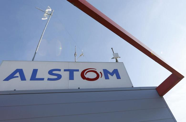 The logo of French engineering group Alstom is seen at a plant in Aytre near La Rochelle, France, August 31, 2016.  REUTERS/Regis Duvignau