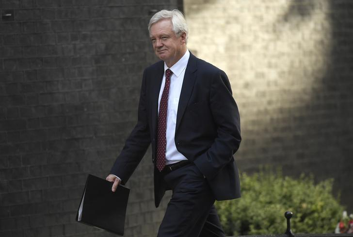 David Davies, secretary of state for exiting the European Union arrives at 10 Downing Street for a cabinet meeting, in London September 13, 2016. REUTERS/Toby Melville