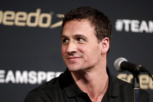 Olympic swimmer Ryan Lochte of the U.S speaks at a news conference at an event to unveil the new line of Speedo LZR Racer X swim suits in the Manhattan borough of New York City, U.S. on December 15, 2015. REUTERS/Mike Segar/File Photo