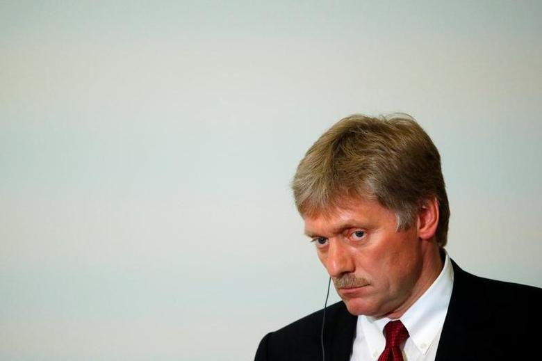Kremlin spokesman Dmitry Peskov attends a news conference of Russian President Vladimir Putin and Laos' Prime Minister Thongloun Sisoulith following the Russia-ASEAN summit in Sochi, Russia, May 20, 2016. REUTERS/Sergei Karpukhin - RTSF6QK