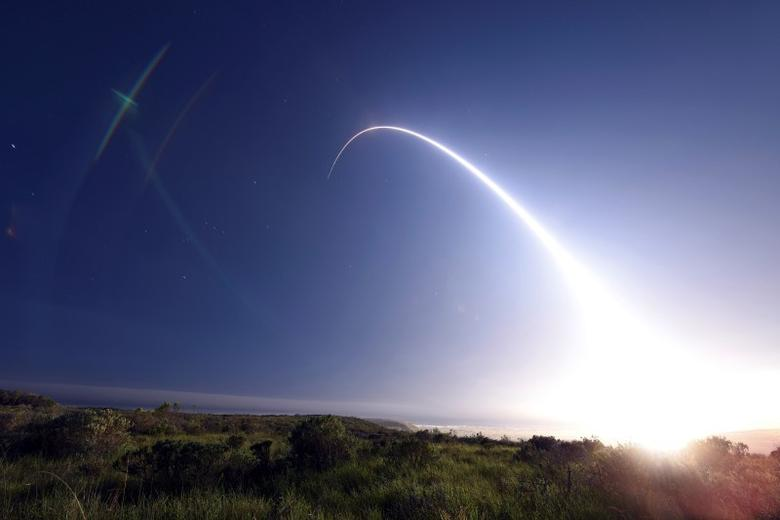 An unarmed Minuteman III intercontinental ballistic missile launches during an operational test from Vandenberg Air Force Base, California, February 25, 2016. REUTERS/Kyla Gifford/U.S. Air Force Photo/Handout via Reuters