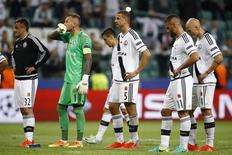 Football Soccer - Legia Warszawa v Borussia Dortmund - UEFA Champions League group stage - Group F - Polish Army Stadium, Warsaw, Poland - 14/09/16 Legia Warszawa's players react after the match. REUTERS/Kacper Pempel