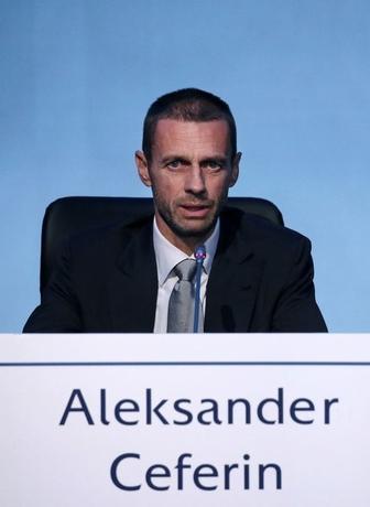 9月14日、欧州サッカー連盟は臨時総会で会長選挙を実施し、スロベニア出身のアレクサンデル・チェフェリン氏が選出された(2016年 ロイター/Alkis Konstantinidis)