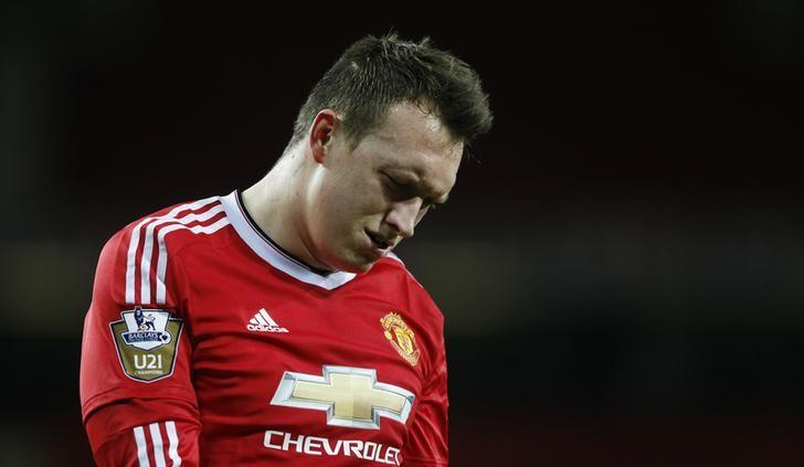 Football Soccer - Manchester United v Chelsea - Barclays Under 21 Premier League - Old Trafford - 4/4/16Manchester United's Phil Jones looks dejectedAction Images via Reuters / Carl RecineLivepic/Files