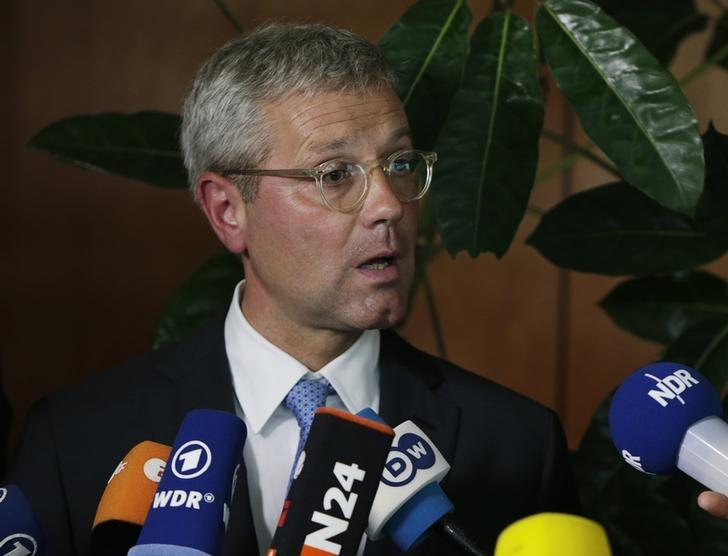 Norbert Roettgen holds a news conference at the German Embassy in Washington July 9, 2014. REUTERS/Gary Cameron/Files