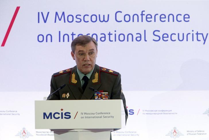 Russian armed forces Chief of Staff Valery Gerasimov delivers a speech as he attends the 4th Moscow Conference on International Security (MCIS) in Moscow April 16, 2015. REUTERS/Sergei Karpukhin/Files