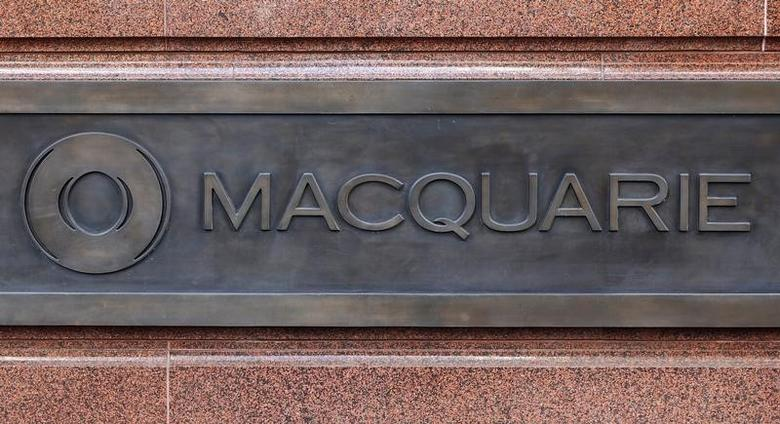 Macquarie Group's corporate logo is pictured on the wall of the Sydney headquarters after the Australian bank's full year results were announced, May 6, 2016. REUTERS/Jason Reed