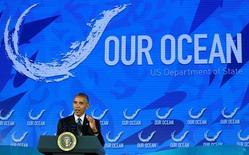 Obama fala em conferência sobre oceano em Washington. 15/9/2016. REUTERS/Kevin Lamarque