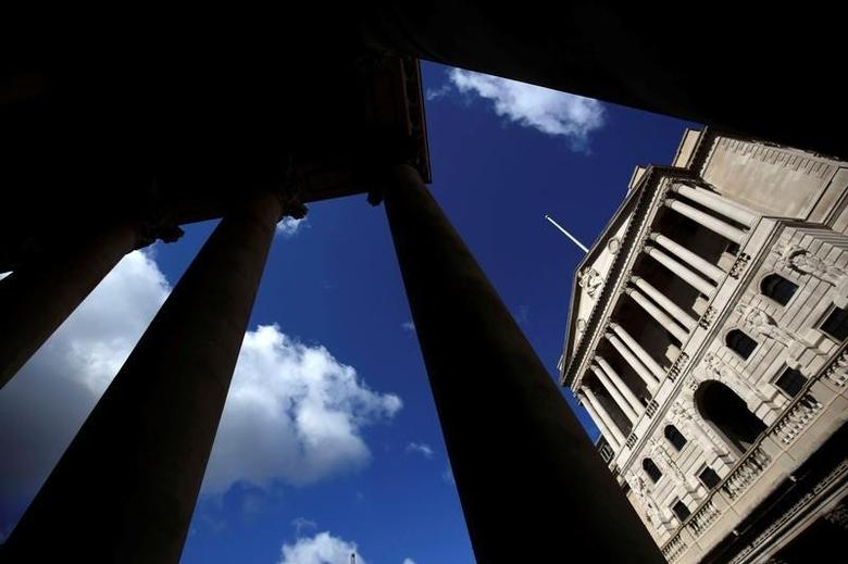The Bank of England is seen through the columns on the Royal Exchange building in London, Britain August 4, 2016. REUTERS/Neil Hall/File Photo