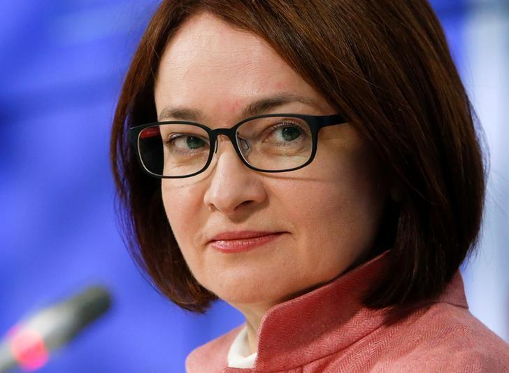Russian central bank governor Elvira Nabiullina attends a news conference, dedicated to the upcoming issuance of a new 200-rouble banknote, in Moscow, Russia, June 28, 2016. REUTERS/Sergei Karpukhin