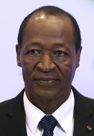 Burkina Faso's President Blaise Compaore poses during an European Union (EU)-Africa summit in Brussels April 2, 2014.  REUTERS/Francois Lenoir