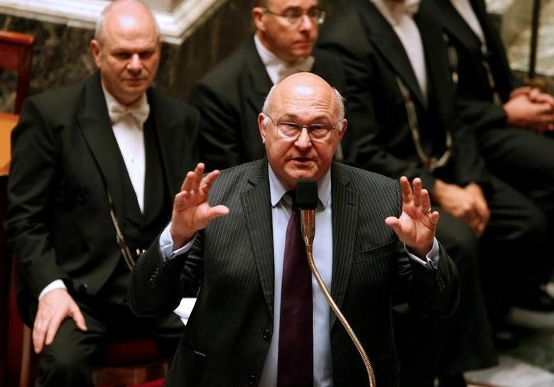 French Finance Minister Michel Sapin responds to a question as he attends the questions to the government session at the National Assembly in Paris, France, June 22, 2016. REUTERS/Jacky Naegelen