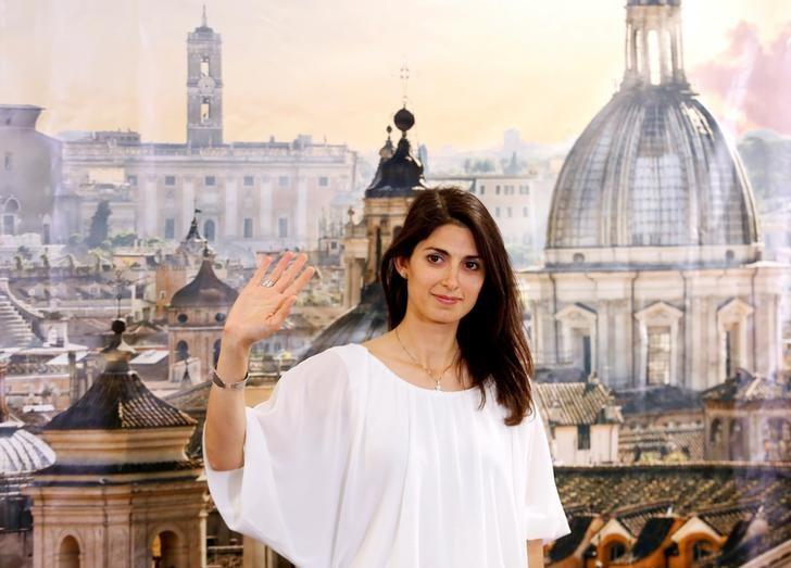 Rome's newly elected mayor Virginia Raggi, of 5-Star Movement, gestures during a news conference in Rome, Italy June 20, 2016. REUTERS/Remo Casilli/Files