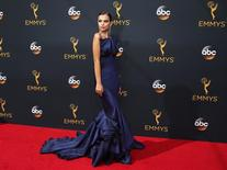 Model Emily Ratajkowski arrives at the 68th Primetime Emmy Awards in Los Angeles, California, U.S., September 18, 2016.  REUTERS/Lucy Nicholson