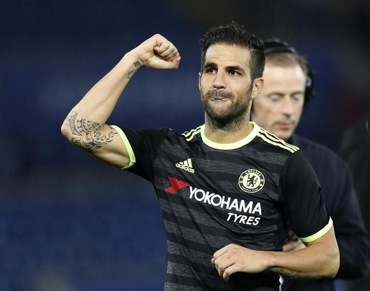 Britain Football Soccer - Leicester City v Chelsea - EFL Cup Third Round  - King Power Stadium - 20/9/16Chelsea's Cesc Fabregas celebrates after the game Reuters / Darren StaplesLivepic
