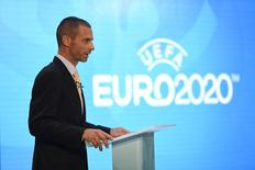 UEFA President Aleksander Ceferin during the launch. UEFA EURO 2020 Launch Event - London City Hall - 21/9/16. Action Images via Reuters / Tony O'Brien Livepic