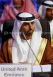 Imagen de archivo del ministro de Energía de Emiratos Árabe Unidos, Suhail Al-Mazroui, durante una conferencia en Riad. Una reunión entre los miembros de la OPEP la próxima semana en Argelia tiene por objetivo generar consultas en lugar de una toma de decisiones, dijo el miércoles el ministro de Energía de Emiratos Árabes Unidos. REUTERS/Faisal Al Nasser