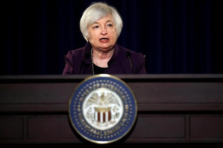 Federal Reserve Chair Janet Yellen attends a news conference after chairing the second day of a two-day meeting of the Federal Open Market Committee to set interest rates in Washington, DC, U.S. on June 17, 2015.  REUTERS/Carlos Barria/File Photo