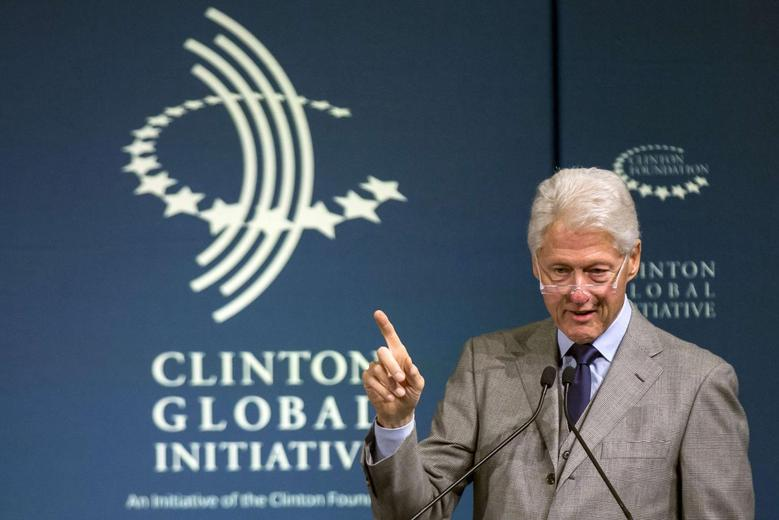 Former U.S. President Bill Clinton speaks during the Clinton Global Initiative's 2015 Winter Meeting in New York February 10, 2015. REUTERS/Brendan McDermid/File Photo